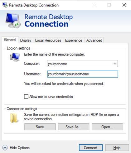 Remote Desktop Advice